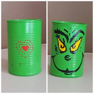 Grinch Cookie Tins