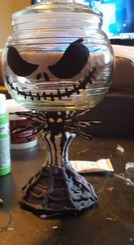 Jack Skellington candy dish