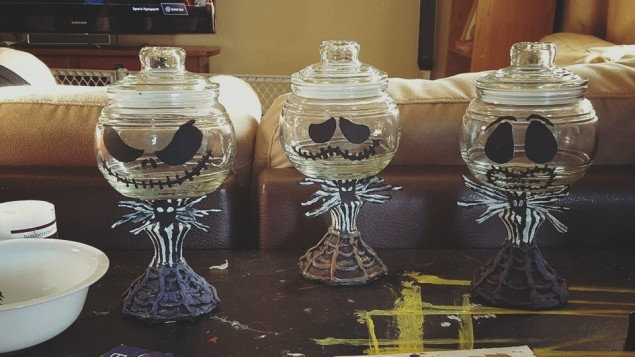 Diy Jack Skellington Candy Dish For Halloween She S One