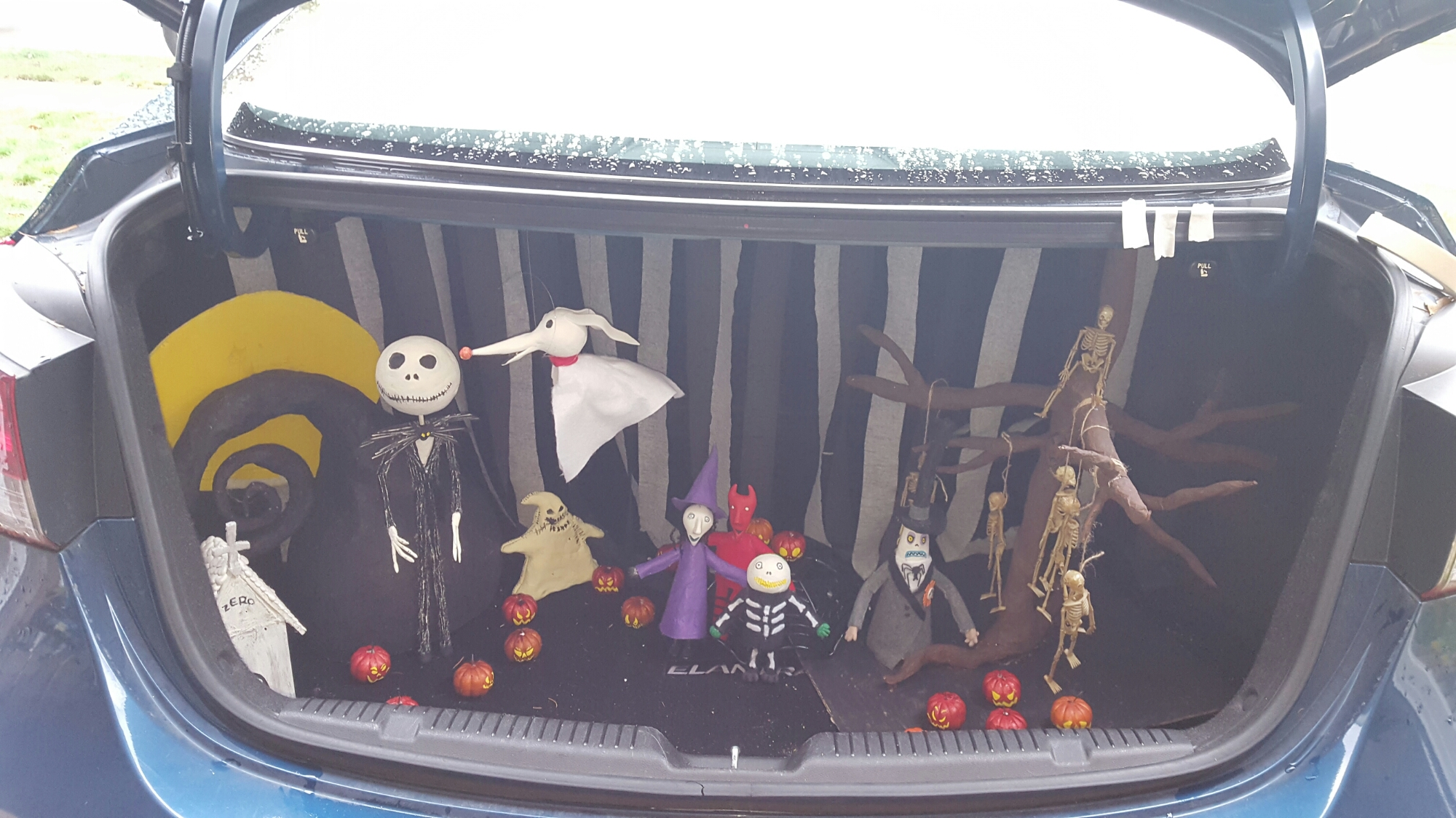 Nightmare Before Christmas Trunk or Treat – She's One Crafty Mom