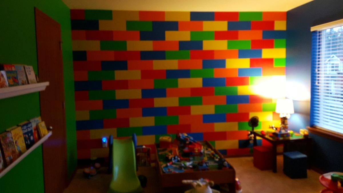 DIY Lego Inspired Bedroom Play Room She 39 S One Crafty Mom